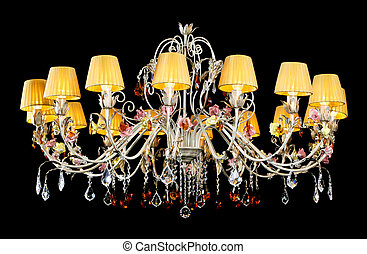 Crystal Chandelier, on black