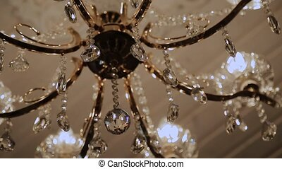 Crystal chandelier with beautiful design