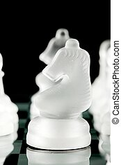crystal chess pieces