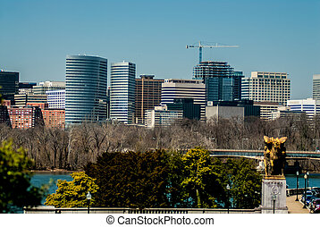 Crystal City, an urban neighborhood in Arlington County, Virginia, Just south of downtown Washington, D.C.