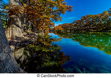 Crystal Clear Frio River, Texas - Beautiful Reflections of ...
