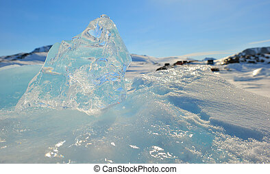 Crystal clear ice in  Greenland