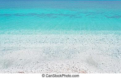 crystal clear water in Stintino, Sardinia