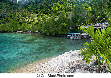 Crystal clear sea at the Togean Islands, Sulawesi, Indonesia