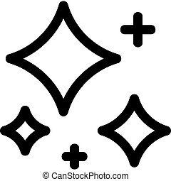 Crystal clear vector icon. Isolated contour symbol illustration