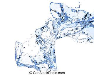 Crystal clear water splash