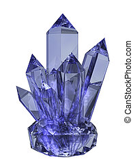 crystal on a white background