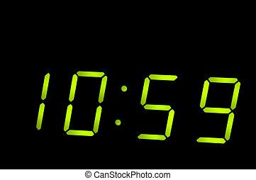 crystal clock on black