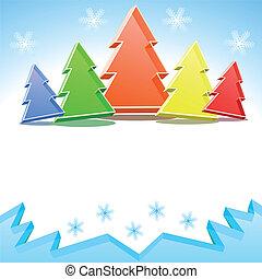 Crystal colorful Christmas trees