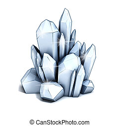 crystal   - crystal 3d illustration