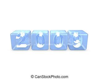 Crystal cube 2009