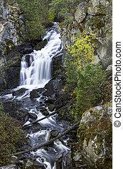 Crystal Falls in Washington State.