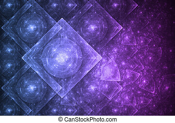 Crystal Formation Abstract - Bright Crystal Glowing ...