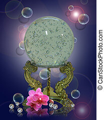 Crystal gazing ball magical - Image and illustration ...