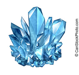 Crystal Gemstone - Crystal gemstone object as a natural...