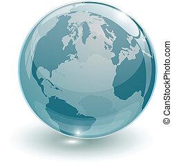 crystal glass ball for globus