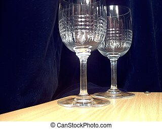 crystal glasses - 2 beautiful Baccarat crystal glasses