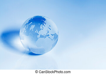 Crystal Globe - Europe and Africa