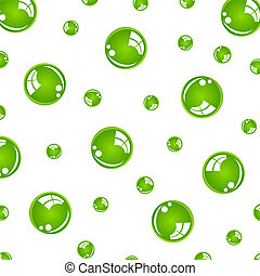 crystal green balls on white background