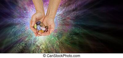 Crystal Healer Offering Chakra Crystals