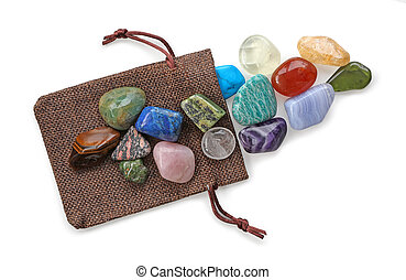 Crystal Healer's precious pouch of colourful stones