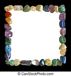 Crystal healing black and white frame