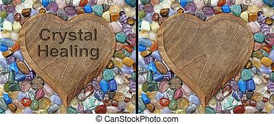 Crystal healing Plaque