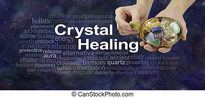 Crystal Healing Word Cloud Banner