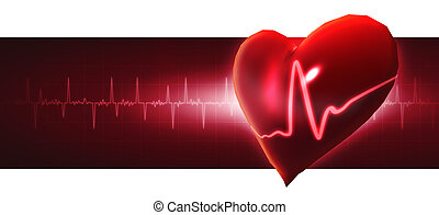 Crystal heart. Abstract medicine backgrounds