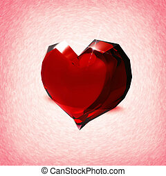 Crystal heart. Abstract valentine backgrounds for your design