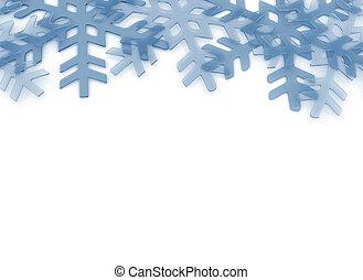 Crystal ice snowflake background
