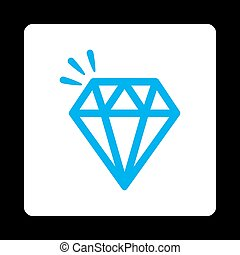 Crystal Icon from Commerce Buttons Over Color Set