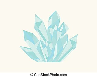 Crystal isolated on white background. Minerals, design elements. A precious stone, polygons. Vector illustration