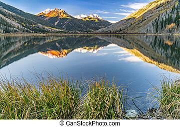 Crystal Lake Morning - Crystal Lake along Red Mountain Pass...