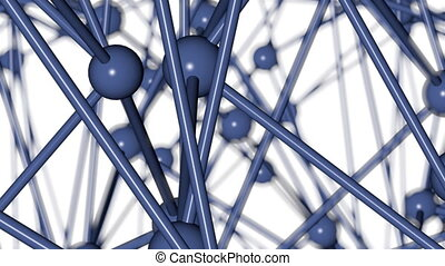 Crystal lattice, atoms, molecules