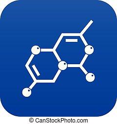 Crystal lattice icon digital blue