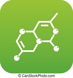 Crystal lattice icon digital green