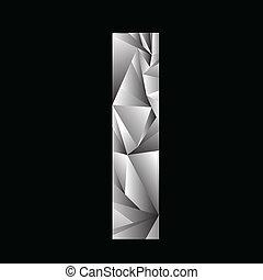 crystal letter I