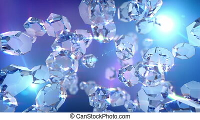 Crystal loopable background