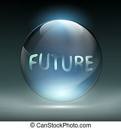 Crystal magic ball for divination. Foretelling the future. Stock
