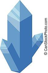 Crystal nanotechnology icon, isometric style