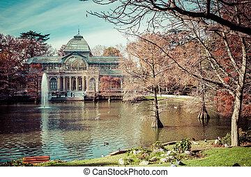 Crystal Palace (Palacio de cristal) in Retiro Park,Madrid,...