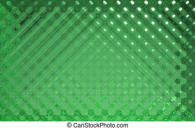 crystal pattern green