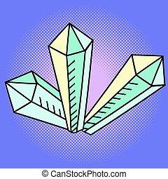 Crystal Pop art vector illustration