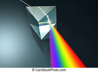 Crystal Prism - The crystal prism disperses white light into...
