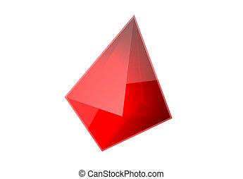 Crystal Ruby Gem 3d Illustration Isolated Asset