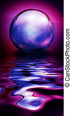 Crystal Sphere in vivid hues and reflections
