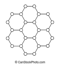 Crystal structure icon in outline style