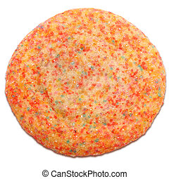 Crystal Sugar Cookie - Colorful sugar crystal cookie over...