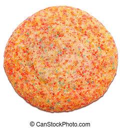 Crystal Sugar Cookie - Colorful sugar crystal cookie over...